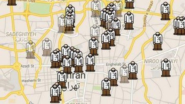 Screengrab of Tehran on Gershad