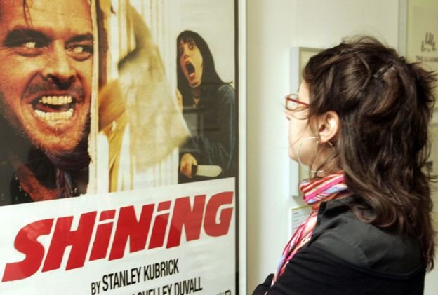 Poster for The Shining on display in Ghent, Belgium in 2006