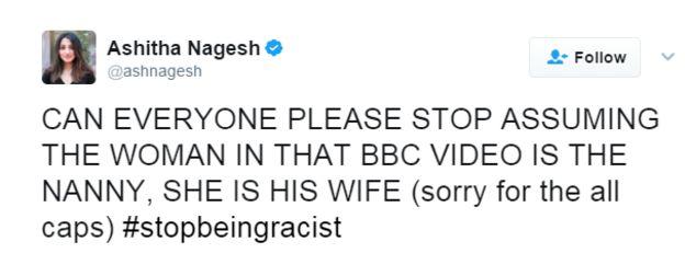 Tweet from Ashitha Nagesh: