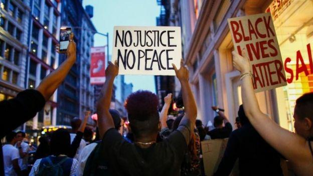 Protestas en Nueva York, 9 de julio