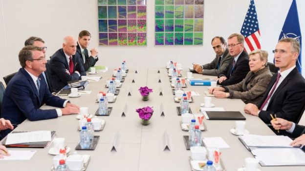 A Nato defence minister's meeting