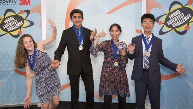 Participantes do concurso de jovens talentos científicos dos EUA