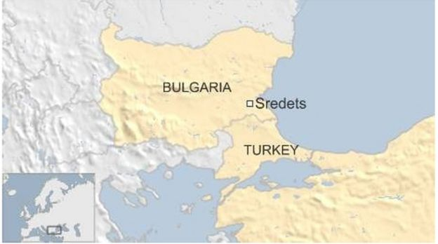 Map of Bulgaria and Turkey showing town where Afghan migrant was shot dead - 16 October 2015