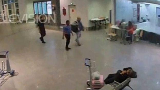 金正男前往機場醫療室