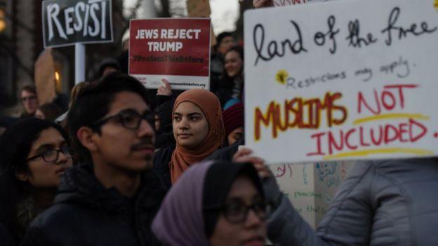 Protesta en Nueva York