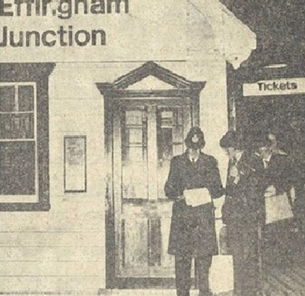 Police making inquiries at Effingham Junction railway station