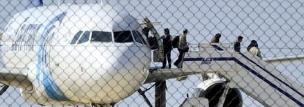 Passengers emerge from hijacked aircraft