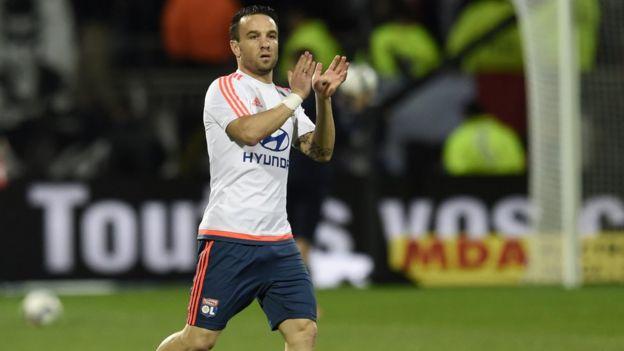 Lyon's French midfielder Mathieu Valbuena
