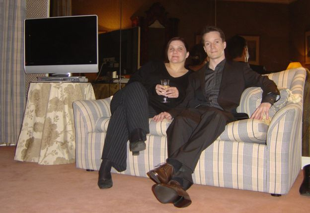 Leonie with her fiance Dan