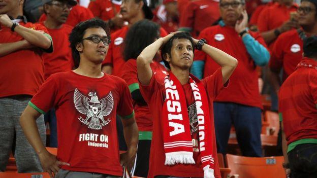 Pendukung timnas Indonesia