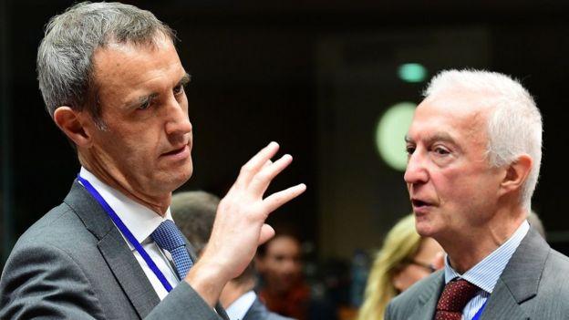 Europol Direktörü Rob Wainwright ve AB Terörizm Karşıtı Koordinatörü Gilles de Kerchove