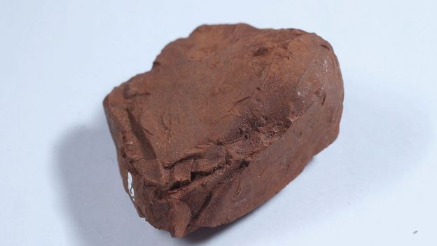 A lump of bauxite