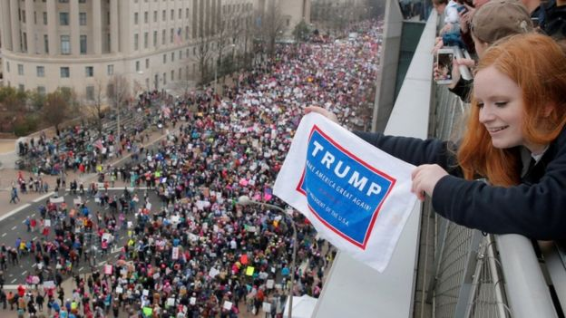 Protest in Washington, 21 Jan