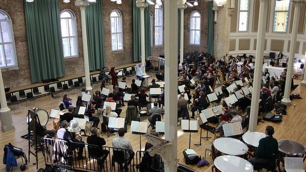 The Halle Orchestra in rehearsal