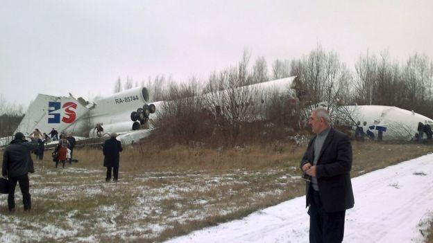 Domodedovo Havalimanı'nda düşen Tupelov