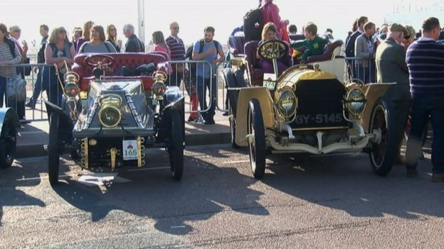 Veteran cars in Brighton