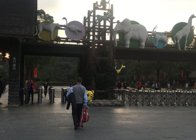 Picture of exit of Youngor zoo in Ningbo on Sunday 29 January 2017