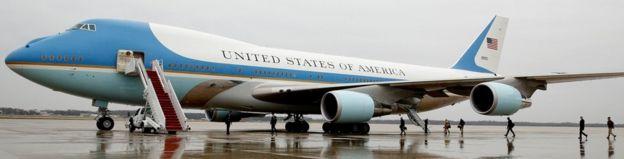 Air Force One ikiwa Maryland 6 Desemba 2016