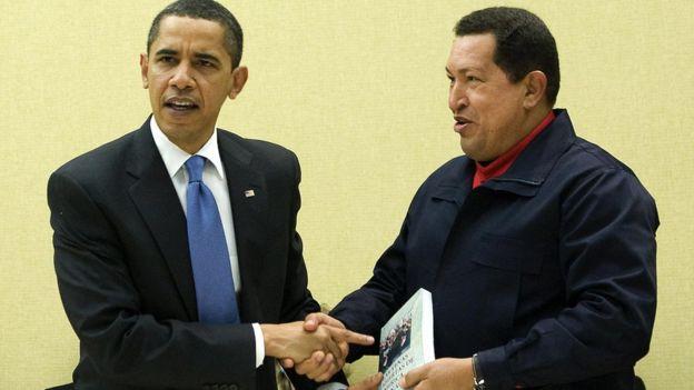 Barack Obama y Hugo Chávez