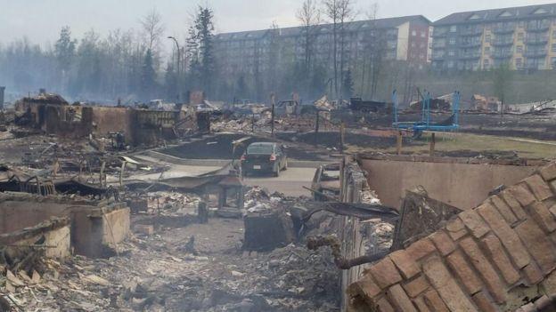 Neighbourhood in ruins