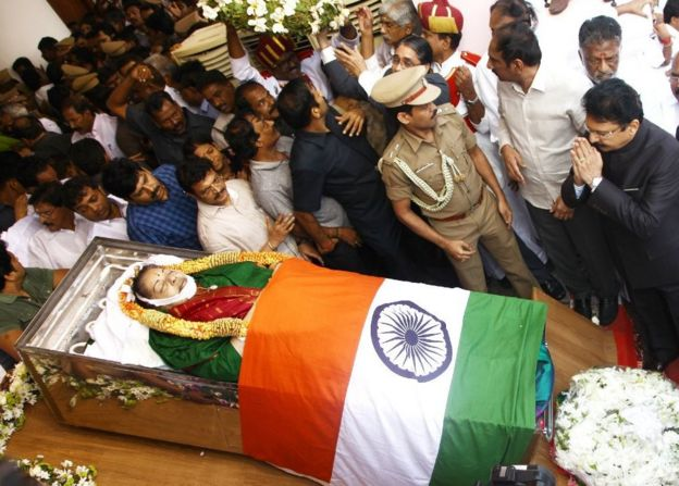 Jayalalitha body