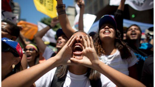 Prostesto na Venezuela