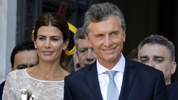 President Mauricio Macri with First Lady Juliana Awada, 10 Dec