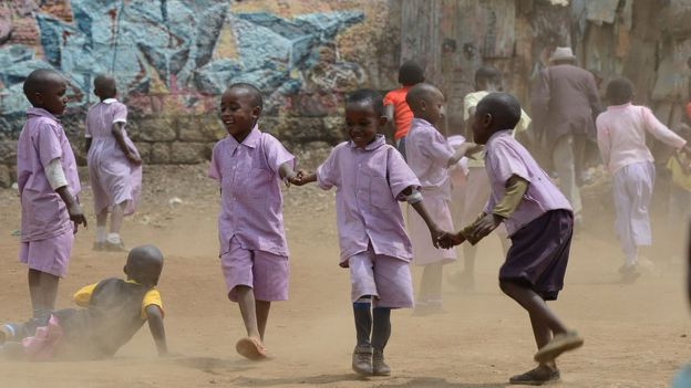 kids at playtime in kenya