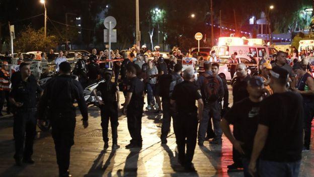 Scene of shooting in Tel Aviv on 8 June 2016