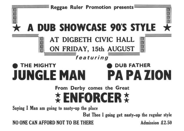 Flyer for a dance at Digbeth Civic Hall