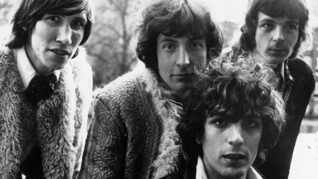 (L-R) Roger Waters, Nick Mason, Syd Barrett and Rick Wright.