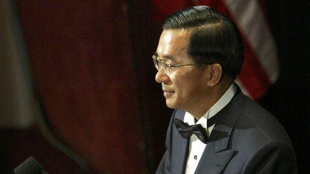 陈水扁途经美国纽约接受国际人权联盟颁发人权奖并发表演说