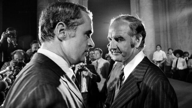Thomas Eagleton y George McGovern en 1972