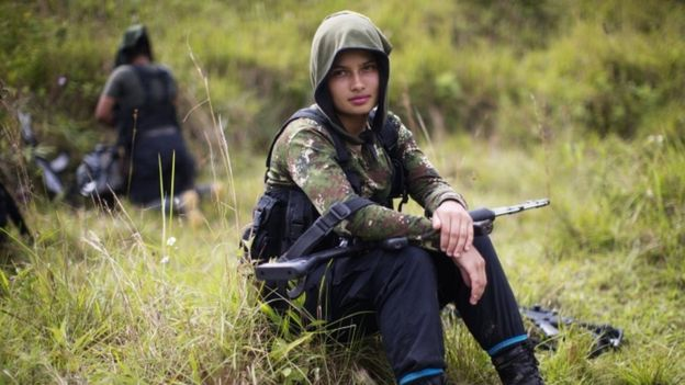 Farc fighter Juliana, 20, on 6 Jan 2016