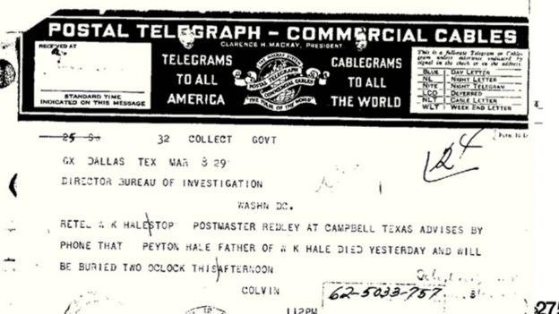 Documento de la investigación del FBI