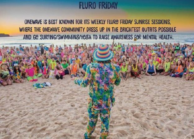 OneWave Fluro Fridays surfing mental health program