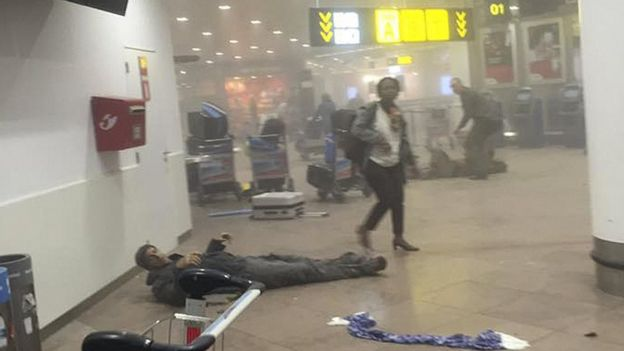 Bellin lying injured after second bomb blast at Zaventem