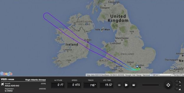 Flightradar tweet