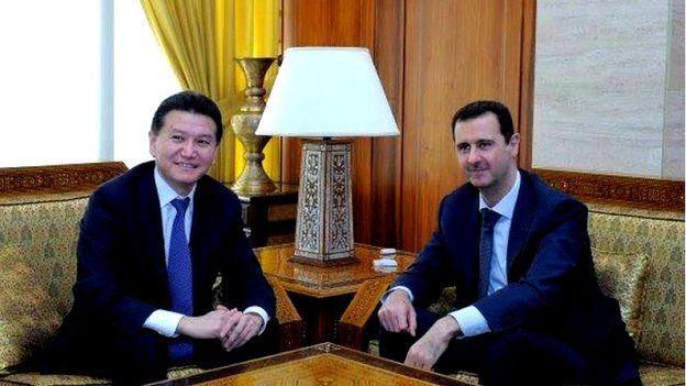 Kirsan Ilyumzhinov con Bashar al-Assad