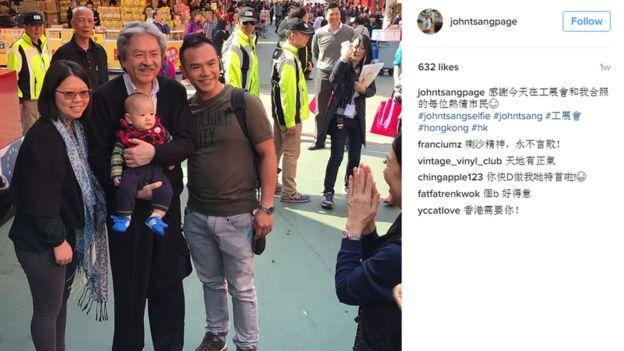 Screengrab from John Tsang's Instagram page
