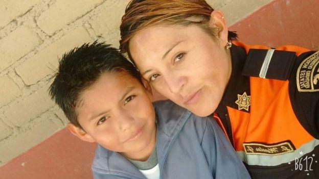 Judith y su hijo Ángel