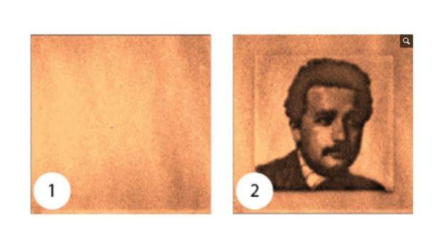 Imagen de Alberto Einstein codificada en un diamante