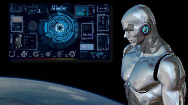 Humanoid robot graphic