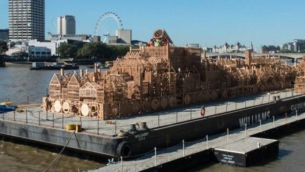 London's Burning sculpture