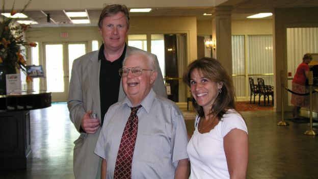 Donald with the authors, John Donvan and Caren Zucker