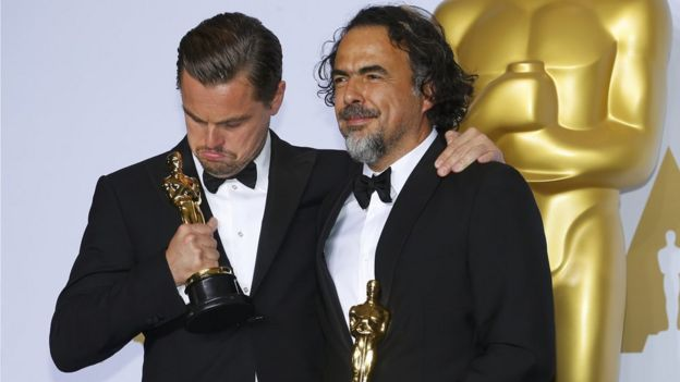Leonardo DiCaprio and Alejandro Inarritu