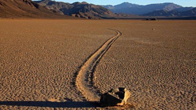 Racetrack Beach en el Parque Nacional del Valle de la Muerte de California
