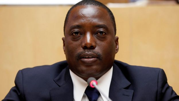 President Joseph Kabila in Ethiopia's capital Addis Ababa, February 24, 2013