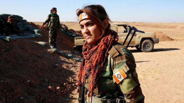 زنان کرد ایرانی در عملیات موصل