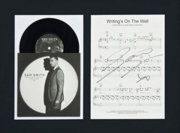 Sam Smith record and sheet music